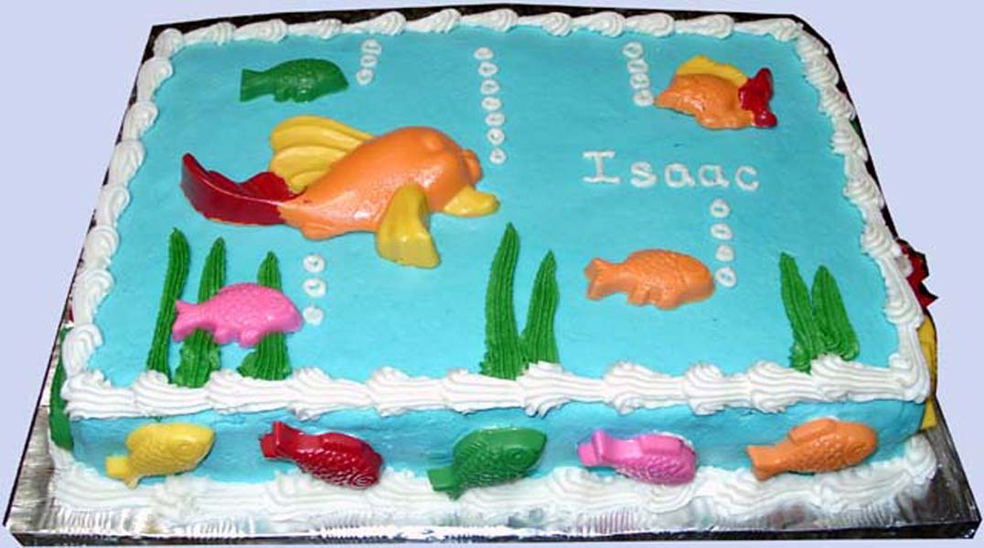 Fish tank with cake ideas and designs for Fish tank cake designs